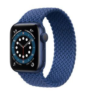 NEW BLUE Braided Solo Loop For Apple Watch